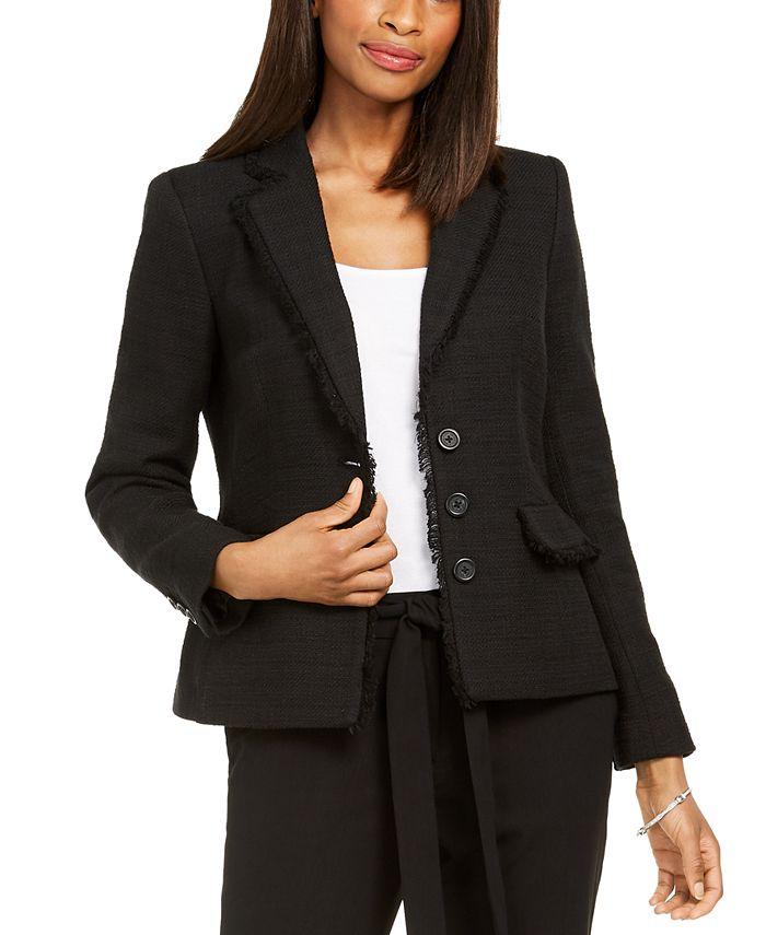 Karl Lagerfeld Paris - Paris Fringe-Trimmed Tweed Jacket