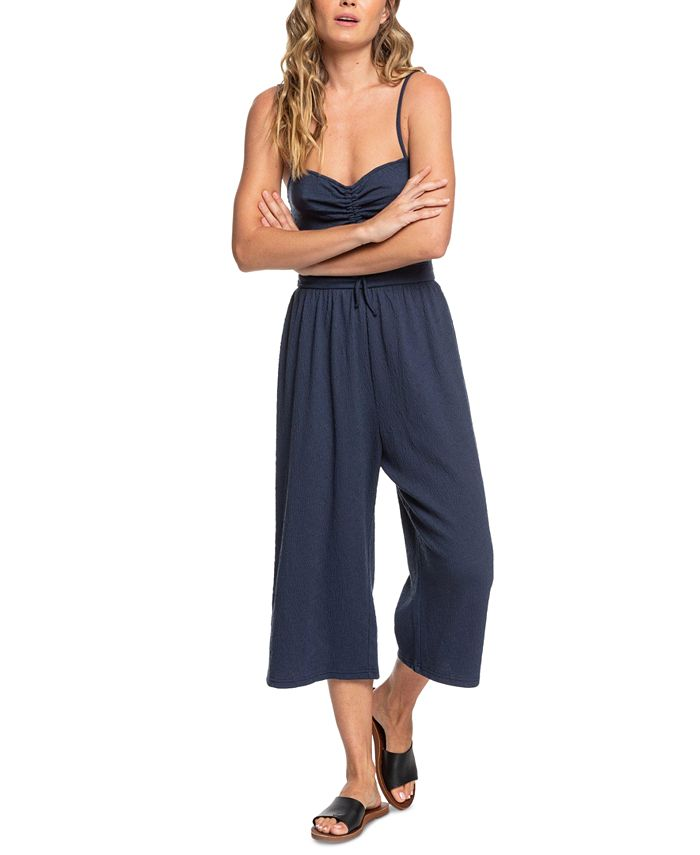 Roxy - Juniors' Where You Move Cropped Jumpsuit