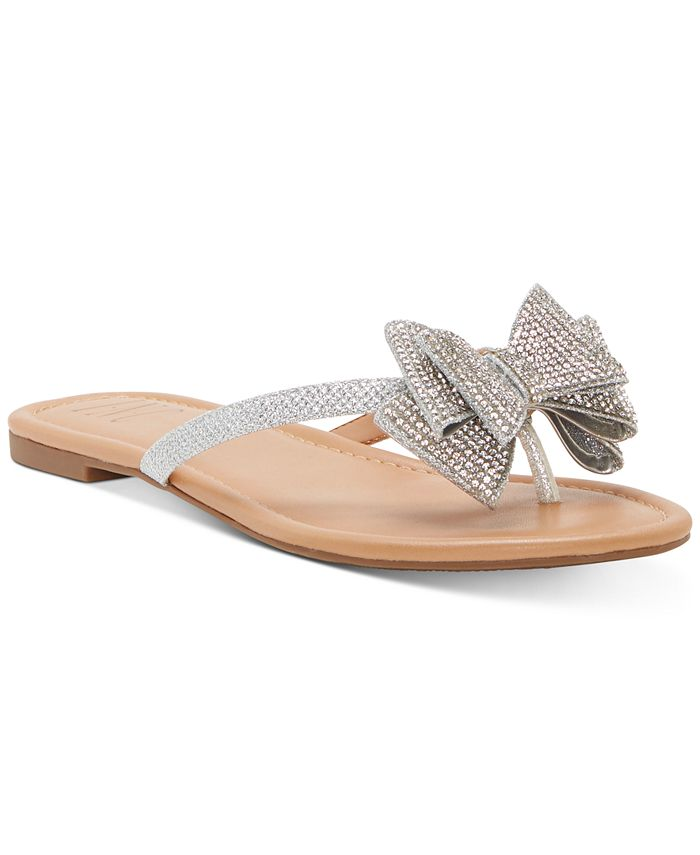 INC International Concepts - Women's Mabae Bow Flat Sandals