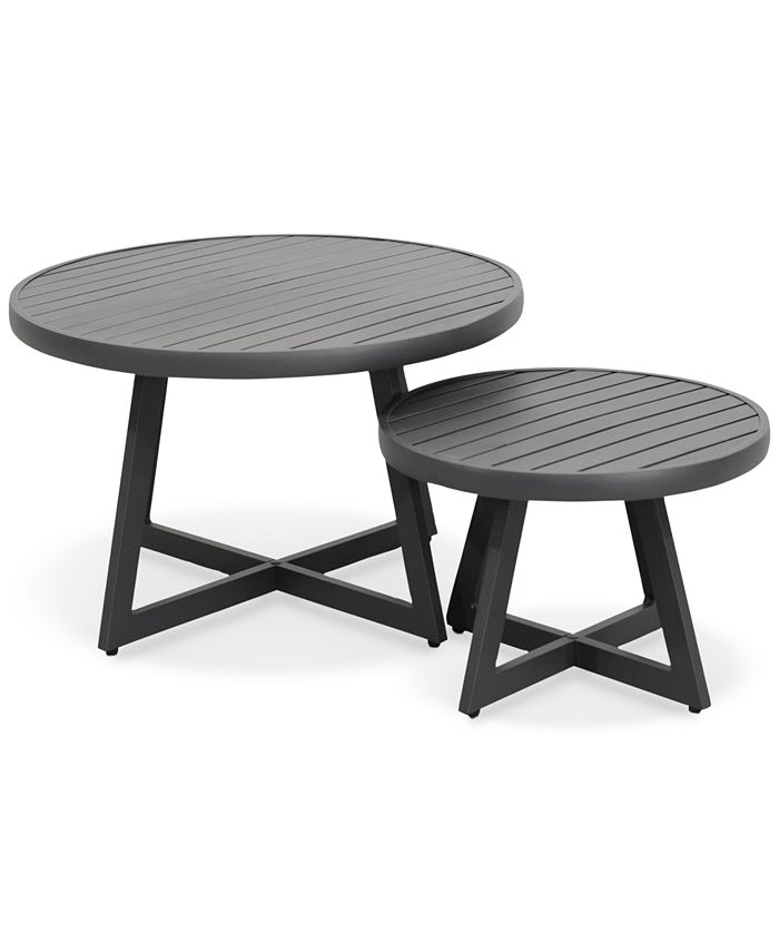 Furniture - Braxtyn Outdoor Round Nesting Coffee Table