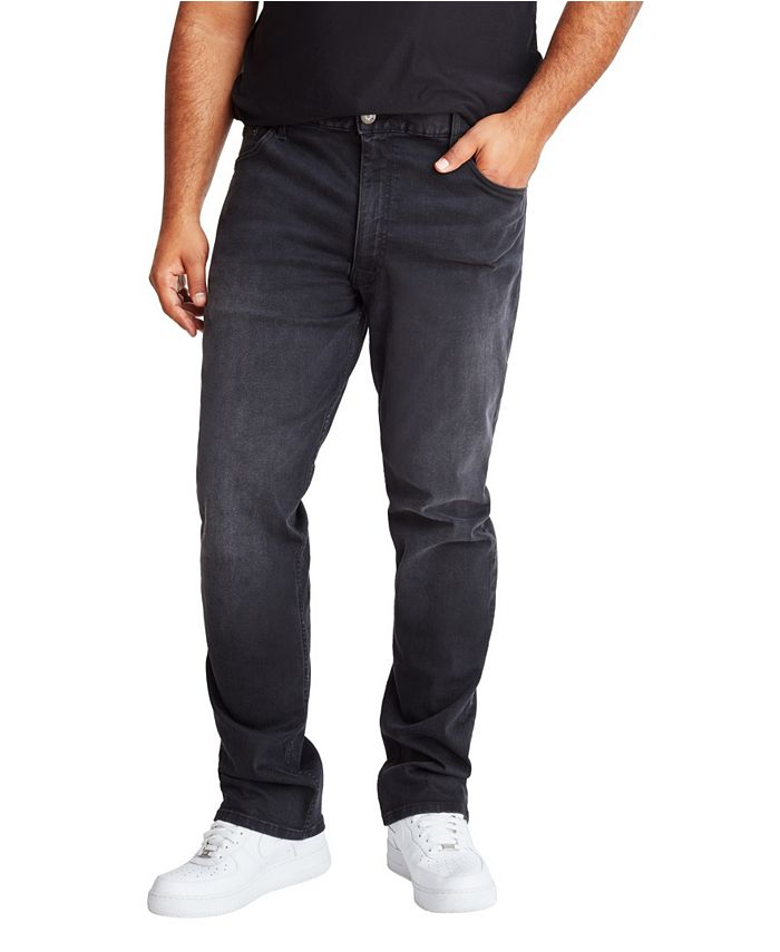 Mvp Collections By Mo Vaughn Productions - MVP Collections Men's Big & Tall Black Vintage Wash Straight Fit Jeans