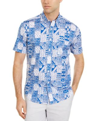 Men's Patchwork-Print Shirt, Created for Macy's