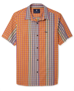 Rocawear Shirt Mix Up Plaid Short Sleeve Shirt