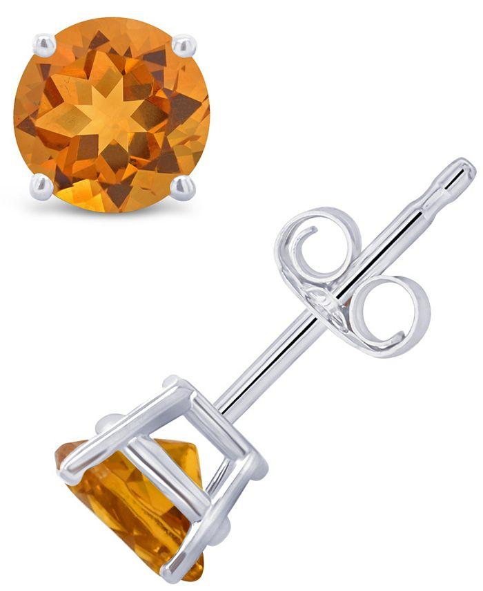 Macy's - Citrine (9/10 ct. t.w.) Stud Earrings in 14K Gold