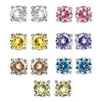 Macys 7-Piece Set Cubic Zirconia Color Stud Earrings