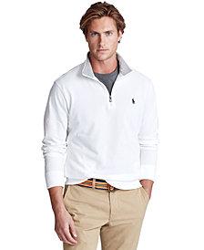 Polo Ralph Lauren Men's Cotton Mesh Quarter-Zip Pullover