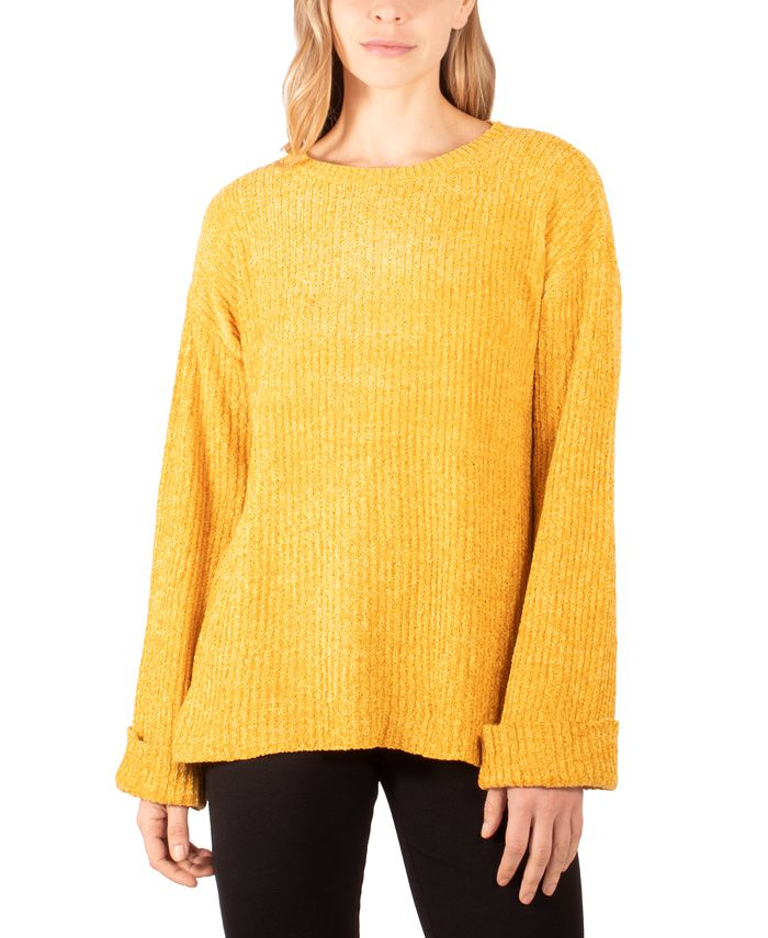 NY Collection - Cuffed High-Low Sweater