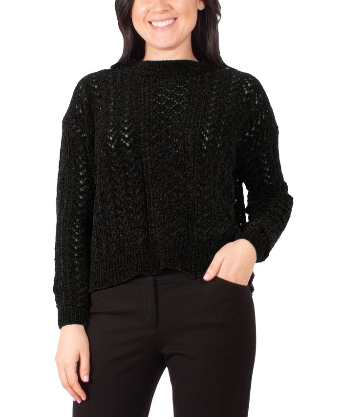 NY Collection - Pointelle-Knit Sweater
