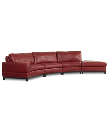 Lyla leather curved sectional sofa 4 piece curved chair for 2 piece curved sectional sofa