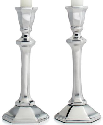 CLOSEOUT! Martha Stewart Collection Candle Holders, Set of 2 Metal Tapers