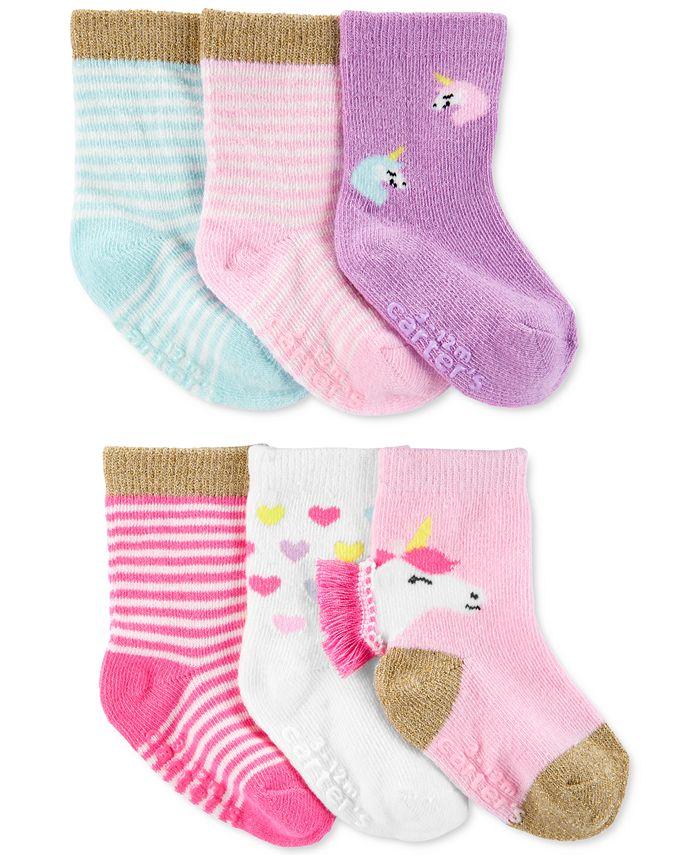 Carter's - Toddler Girls 6-Pack Socks