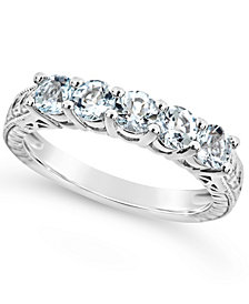 Aquamarine (1-1/6 ct. t.w.) Ring in Sterling Silver (Also Available in Other Birthstones)