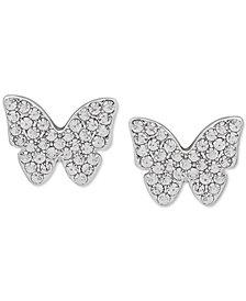 DKNY Pavé Butterfly Stud Earrings
