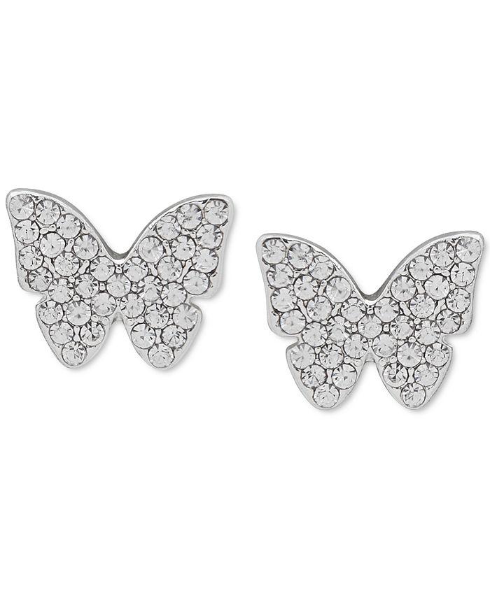 DKNY - Pavé Butterfly Stud Earrings