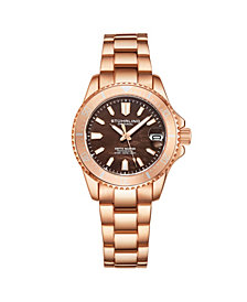 Stuhrling Women's Rose Gold Stainless Steel Bracelet Watch 32mm