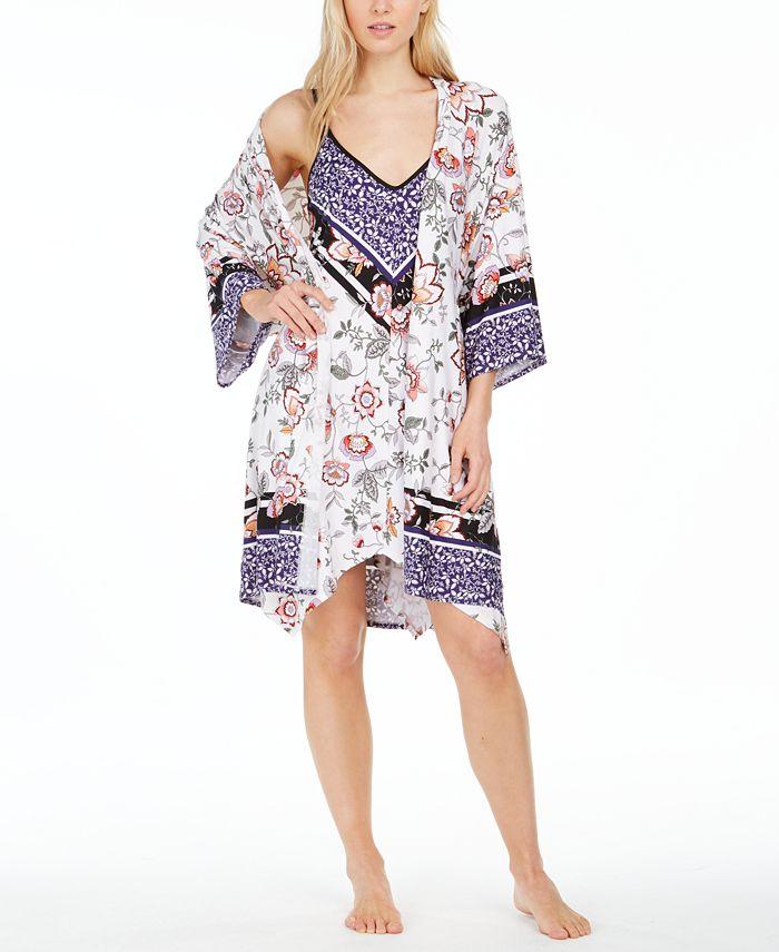 Linea Donatella - Mixed-Print Wrap Robe