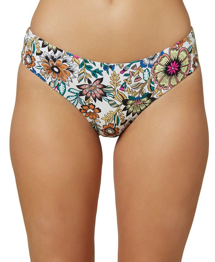 O'Neill - Juniors' Priscilla Printed Hipster Bikini Bottoms