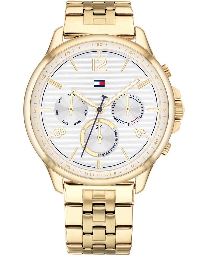 Tommy Hilfiger - Women's Chronograph Gold-Tone Bracelet Watch 38mm