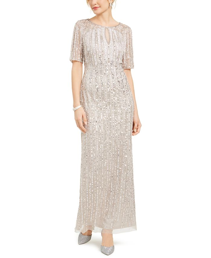 Adrianna Papell - Beaded Fringe Gown