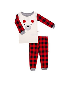 Snugabye Hot Cocoa Baby Boys and Girls 2 Piece Pajama Set