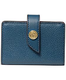 Michael Michael Kors Tab Leather Card Case
