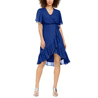 Deals on Calvin Klein High-Low Chiffon Dress