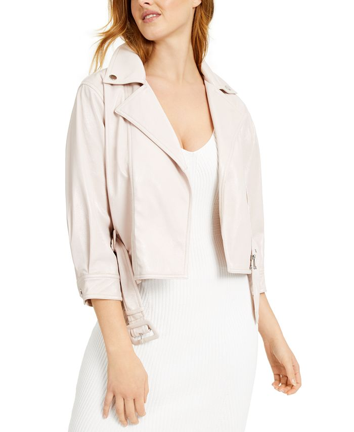 GUESS - Terry Faux-Leather Jacket