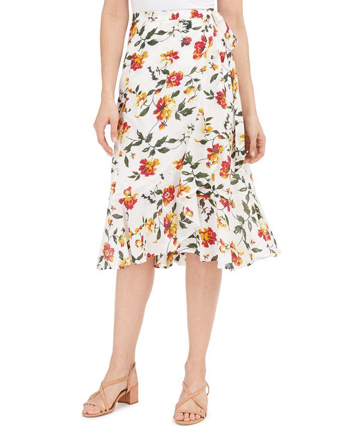 Lucky Brand - Sadie Printed Wrap Skirt
