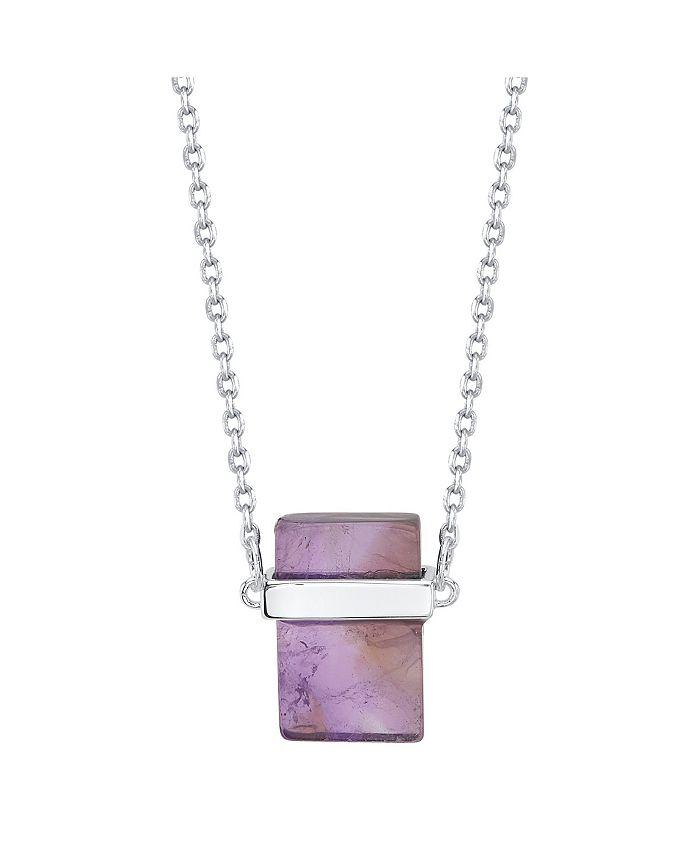 """Unwritten - Genuine Stone Necklace, 16""""+2"""" Extender"""