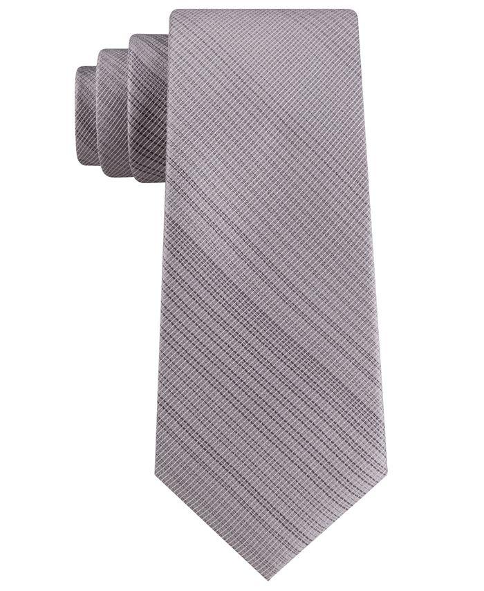 Calvin Klein - Men's Classic Tonal Vertical Grid Tie