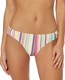 Jessica Simpson Striped Hipster Bikini Bottoms