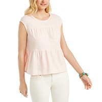 Style & Co Womens Cotton Tiered Tank Top