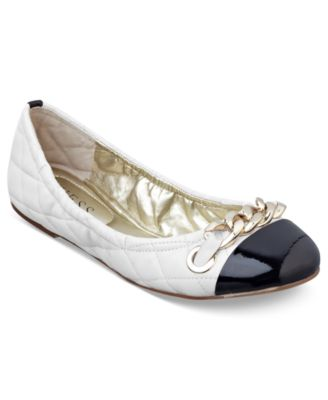 GUESS Women's Shoes, Fetoni Quilted Ballet Flats
