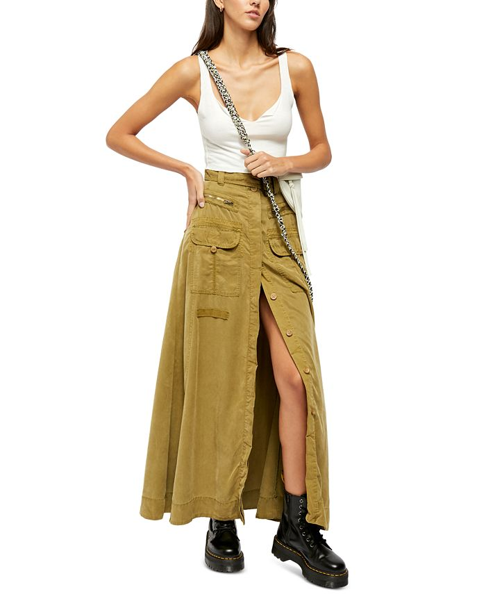 Free People - The Feeling Of Falling Utility Maxi Skirt