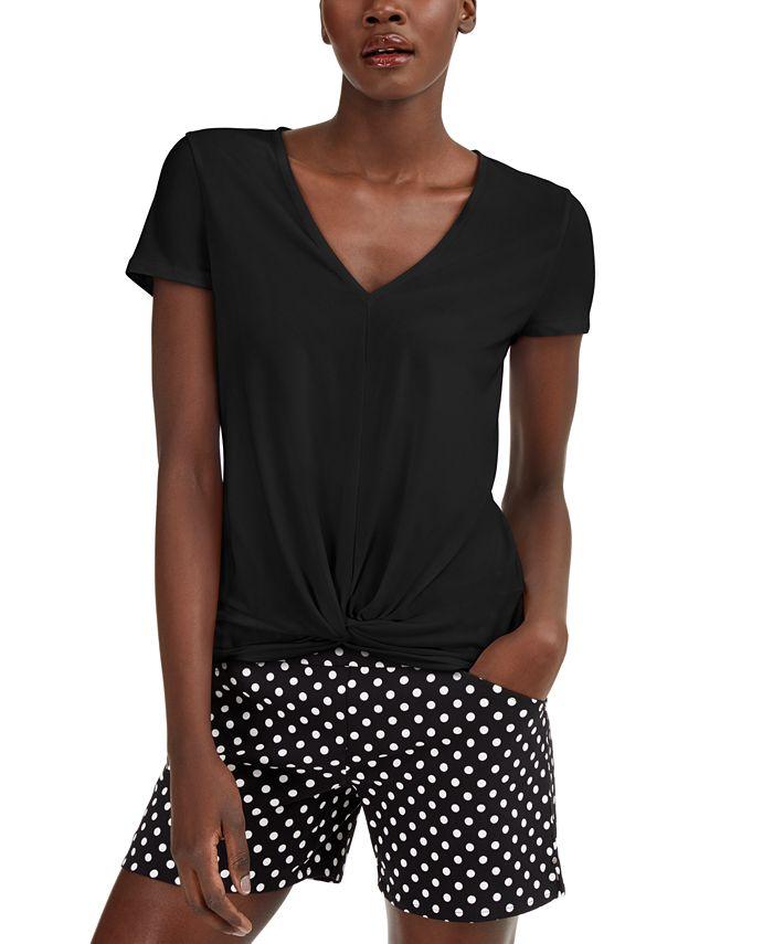 INC International Concepts - Twist-Front T-Shirt
