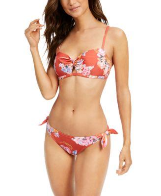 Beka Printed Bow Bikini Top, Created for Macy's