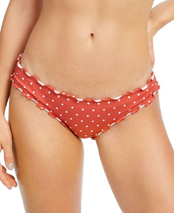 SUNDAZED - Printed Ruffled Bikini Bottoms