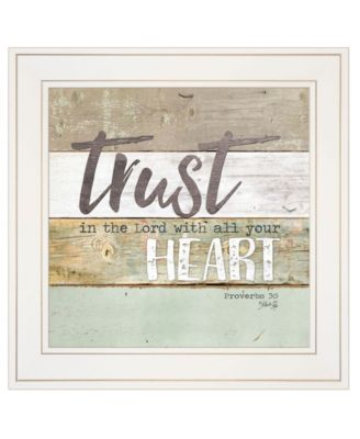 Trust in the Lord by Marla Rae, Ready to hang Framed print, White Frame, 15