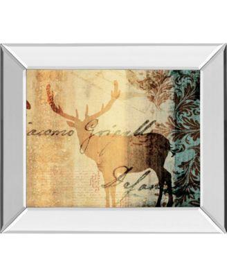 Letter II by F. Leal Mirror Framed Print Wall Art - 22