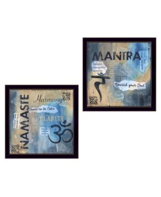 Yoga I Collection By Debbie DeWitt, Printed Wall Art, Ready to hang, Black Frame, 28