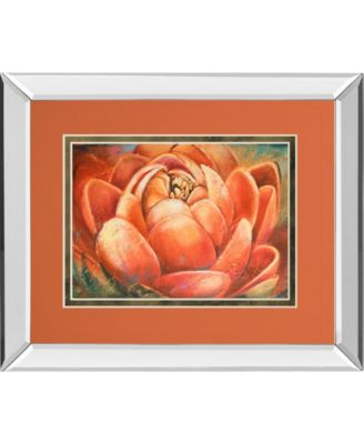 Red Lotus II by Patricia Pinto Mirror Framed Print Wall Art, 34