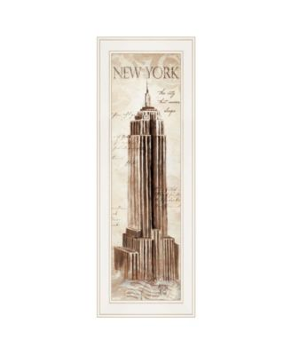 New York Panel by Cloverfield Co, Ready to hang Framed Print, White Frame, 8
