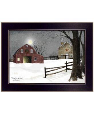 Light in the Stable by Billy Jacobs, Ready to hang Framed Print, Black Frame, 26