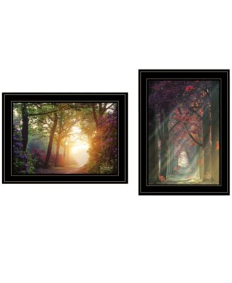 Path of Happiness 2-Piece Vignette by Martin Podt, White Frame, 21