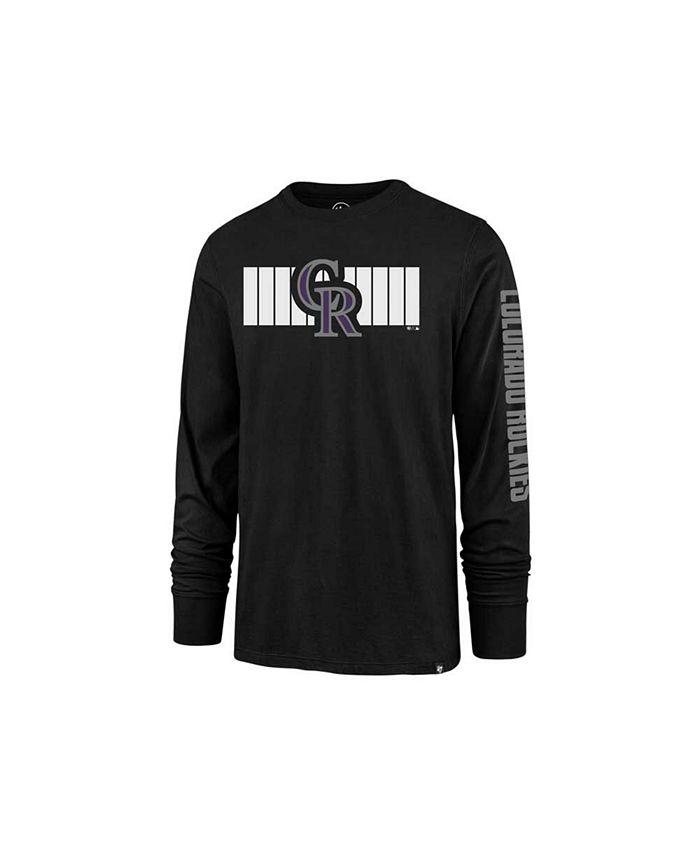 '47 Brand - Colorado Rockies Men's Cross Stripe Long Sleeve T-Shirt