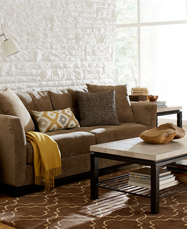 Elliot Fabric Sofa Living Room Furniture Collection Furniture Macy 39 S