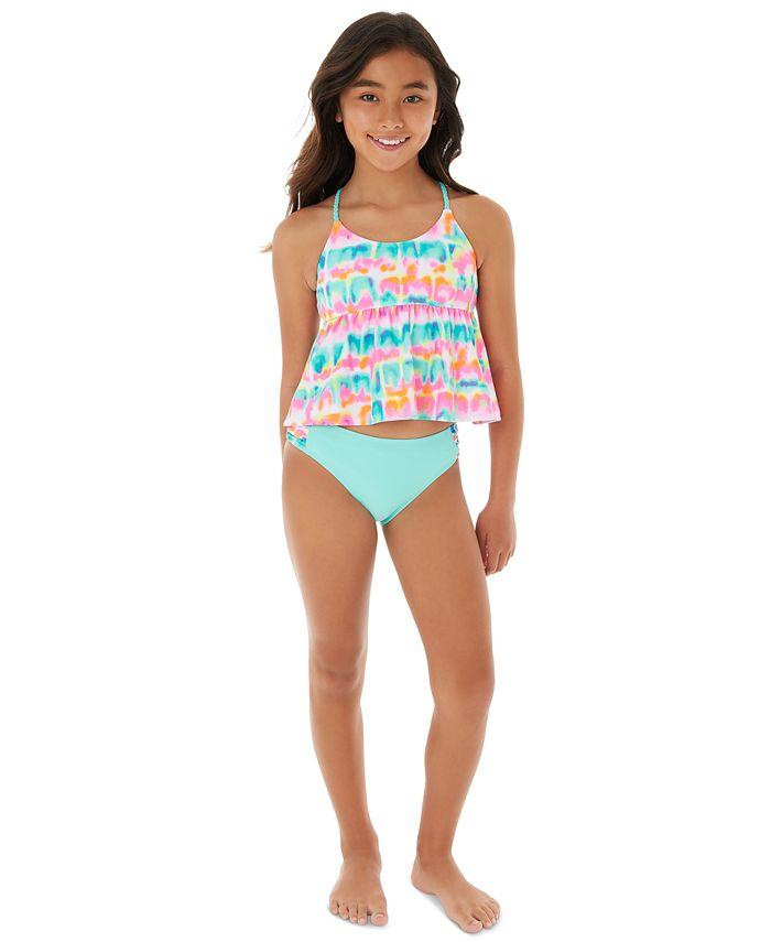 Glitter Beach - Big Girls 2-Pc.  Babydoll Tankini