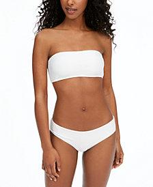 O'Neill Juniors' Textured Bandeau Bikini Top & Hipster Bottoms