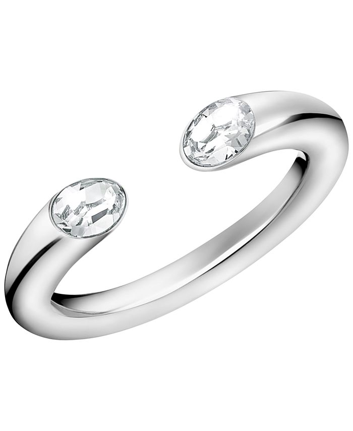 Calvin Klein - Crystal Cuff Ring in Stainless Steel