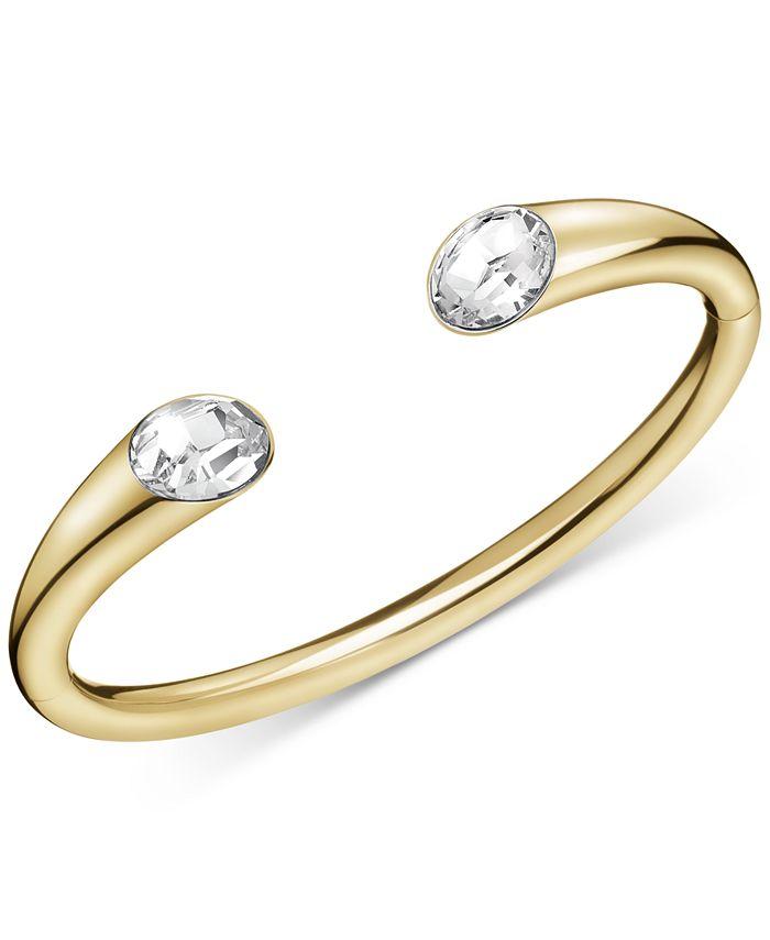 Calvin Klein - Crystal Cuff Bracelet in Gold-Tone PVD